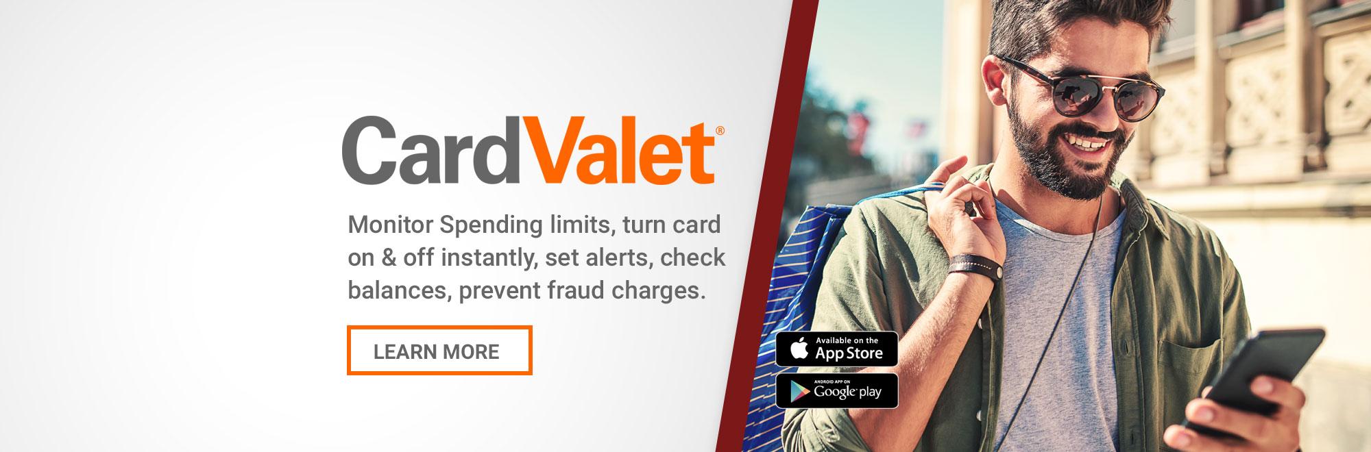 CardValet - Monitor Spending Limits