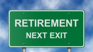retirement: next exit road sign
